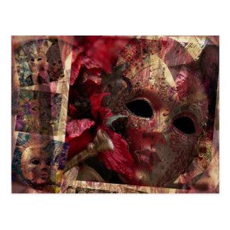 Máscaras modernas postal