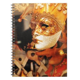 Máscaras venecianas cuaderno