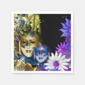 Máscaras venecianas del quinceanera de la servilletas desechables