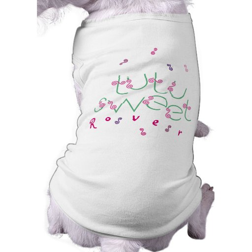 Mascota adaptable T de la bailarina dulce del tutú Camiseta De Perrito