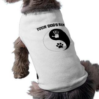 Mascota: Camisa del perro de HandToPaw Yin-Yang Camiseta Sin Mangas Para Perro