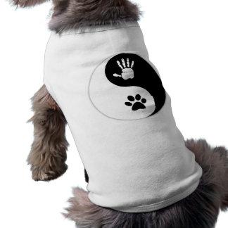 Mascota - camisa del perro de HandToPaw Yin-Yang Camiseta Sin Mangas Para Perro