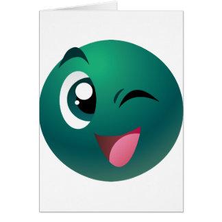 Mascota de los juegos del bingo del juego tarjeta