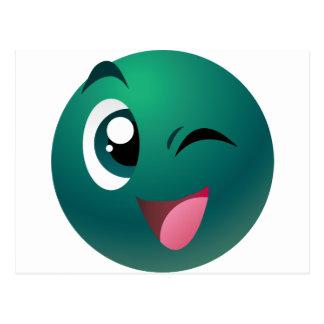 Mascota de los juegos del bingo del juego tarjetas postales