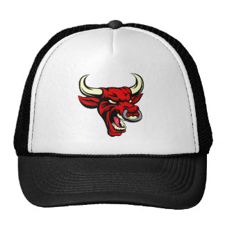 Mascota del animal del medio del rojo de Bull Gorras De Camionero
