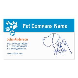 Mascota del cuidado de animales de compañía tarjetas de visita