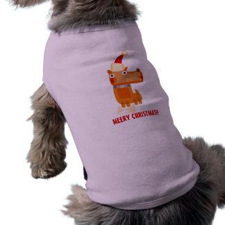 Mascota del del de Navidad de la ropa Camiseta De Perro