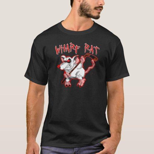 Mascota del dibujo animado de la rata de muelle camiseta