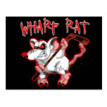 Mascota del dibujo animado de la rata de muelle postal