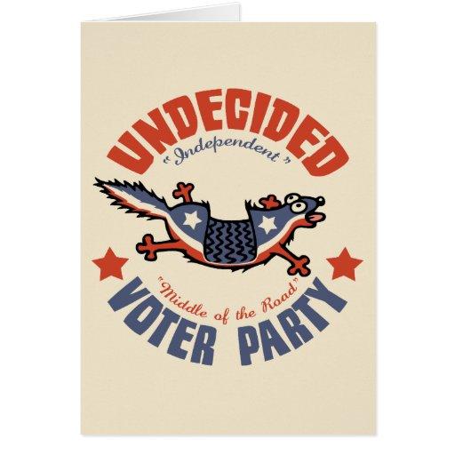 Mascota del fiesta del votante indeciso felicitaciones
