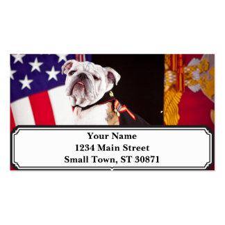 mascota del funcionario de la marina de guerra del tarjetas de visita