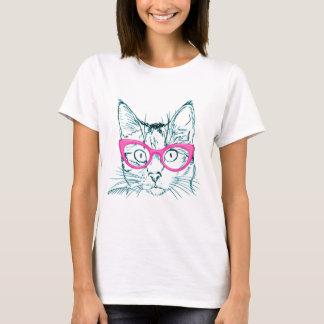 Mascota del gato del inconformista elegante camiseta