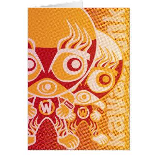 Mascota del luchador tarjetas