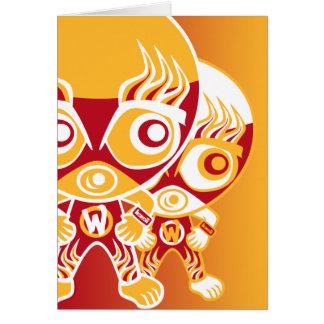 Mascota del luchador tarjeton