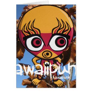 Mascota del luchador tarjeta de felicitación
