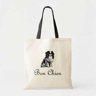 Mascota del perro de Chien del Bon del vintage Bolso De Tela