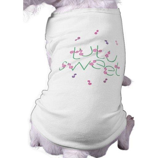 Mascota dulce T de la bailarina del tutú Ropa Macota