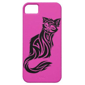 Mascota felino floral del mascota del tatuaje del  iPhone 5 fundas