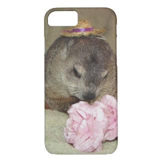 Mascota Groundhog Clara con la flor Funda iPhone 7
