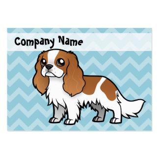 Mascota lindo del dibujo animado tarjetas de visita