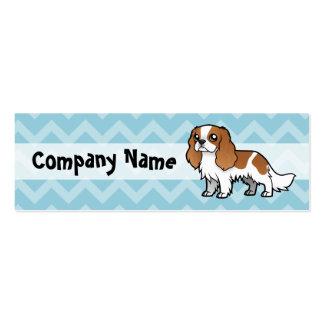 Mascota lindo del dibujo animado plantilla de tarjeta personal