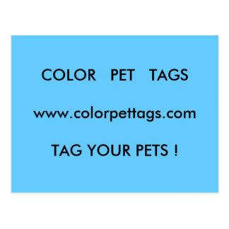 MASCOTA   TAGSwww.colorpettags.comTAG   del COLOR Postal