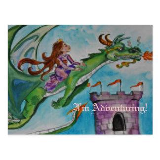 Mascota y princesa postal del dragón