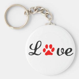 Mascotas básicos del amor del llavero del botón