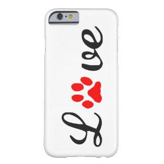 mascotas del amor del caso del iPhone 6/6s Funda Barely There iPhone 6