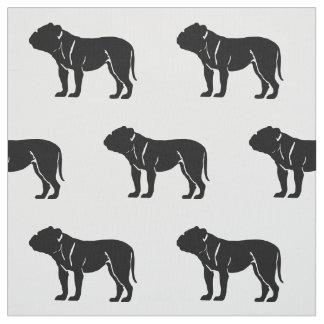 Mascotas del modelo de la silueta del dogo tela