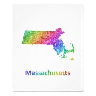 Massachusetts Folleto 11,4 X 14,2 Cm