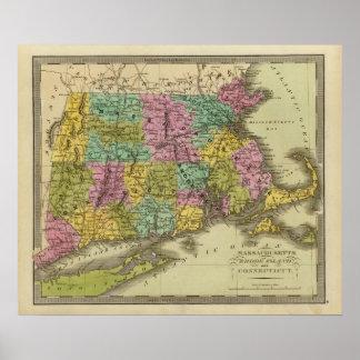 Massachusetts Rhode Island y Connecticut 2 Póster