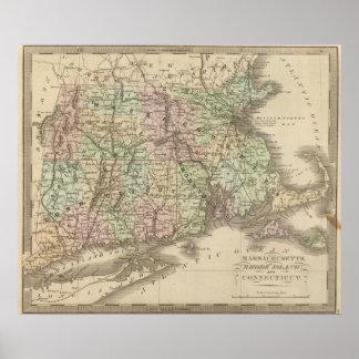 Massachusetts, Rhode Island, y Connecticut Póster