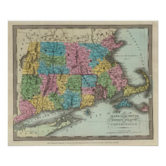 Massachusetts Rhode Island y Connecticut Posters