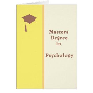 Masters en tarjeta de felicitación de la