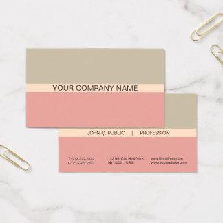 Mate combinado de los colores armónicos modernos tarjeta de visita