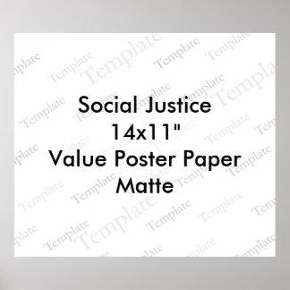 Mate del papel de poster del valor de la justicia