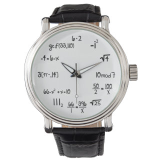 Matemáticas divertida Wiz (concurso de estallido) Reloj De Mano
