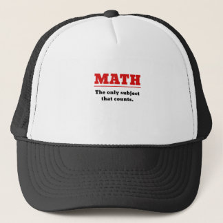 Matemáticas el único tema que cuenta gorra de camionero
