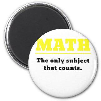 Matemáticas el único tema que cuenta imán