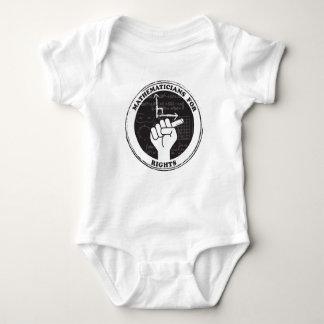 Matemáticos para el bebé de las derechas de una body para bebé