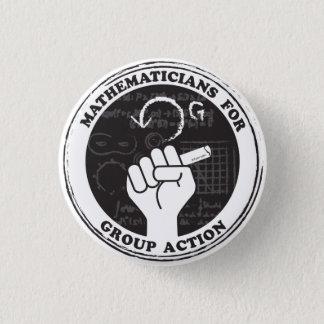 Matemáticos para el botón de la acción de grupo