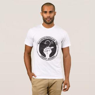 Matemáticos para la camiseta de la acción de grupo
