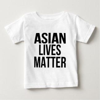 Materia asiática de las vidas camiseta de bebé