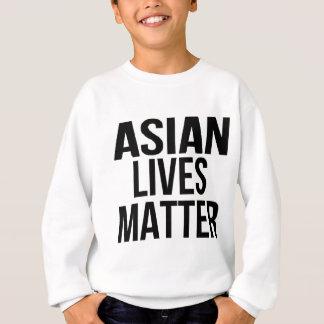 Materia asiática de las vidas sudadera