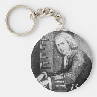 Materia de Johann Sebastian Bach Llavero Redondo Tipo Chapa