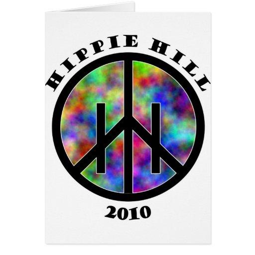 Materia de la colina del Hippie Tarjetón