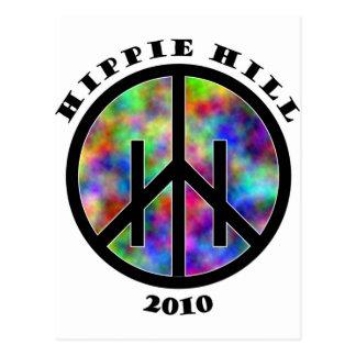 Materia de la colina del Hippie Tarjeta Postal