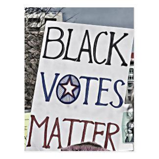 Materia de los votos negros postal