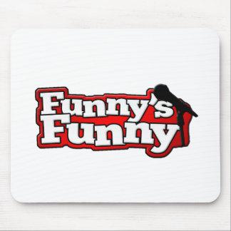 Materia divertida divertida del logotipo alfombrilla de ratón